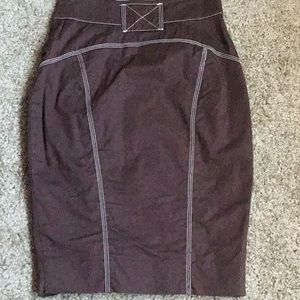 bebe Skirts - Pencil Skirt w/Stitch Detail and Pockets